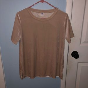 Creamy- tan velvet top (never worn before)!